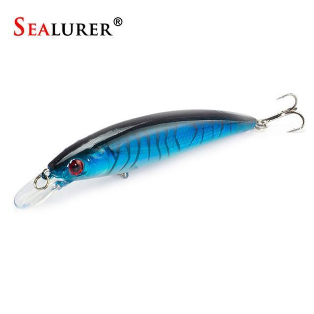 Sealurer Floating Wobbler Laser Minnow Fishing Lure 11Cm 13.5G Artificial-Shop1513314 Store-E-Bargain Bait Box