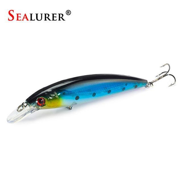 Sealurer Floating Wobbler Laser Minnow Fishing Lure 11Cm 13.5G Artificial-Shop1513314 Store-I-Bargain Bait Box