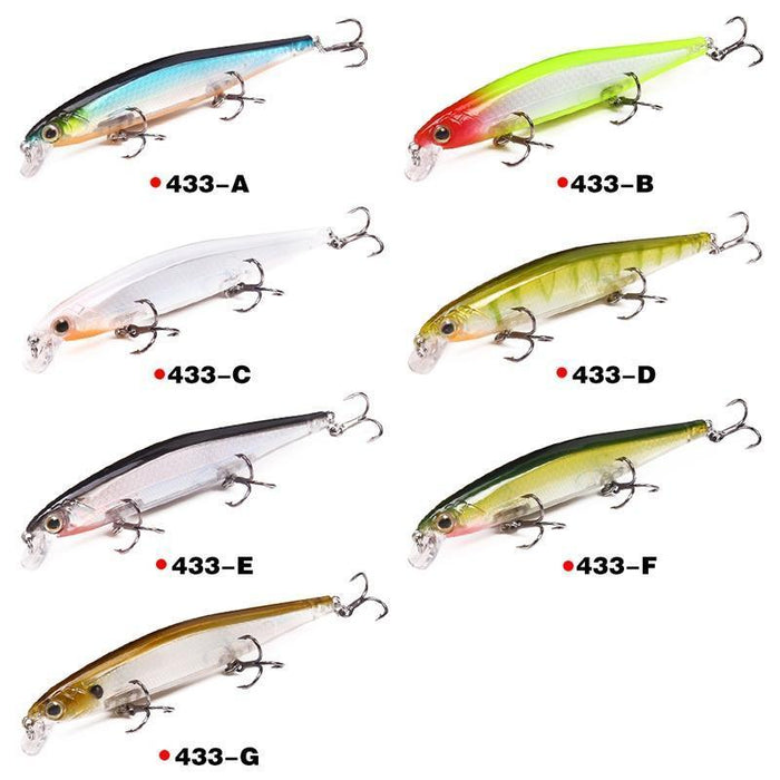 Seapesca 110Mm 13G Laser Minnow Fishing Lure Pesca Hooks Slowly Sinking Wobblers-SEAPESCA Fishing Store-A-Bargain Bait Box
