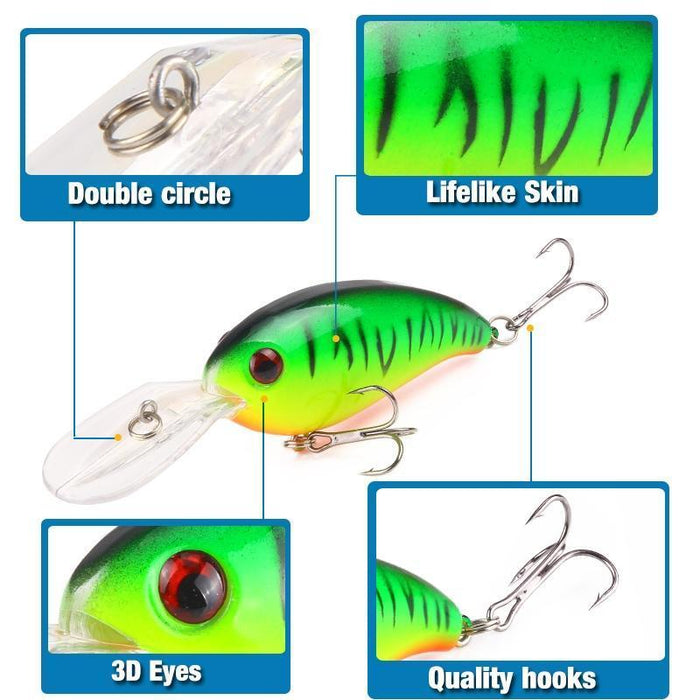 Seapesca Crankbait Fishing Lure 10Cm 14G Wobblers Iscas Artificiais Hard Bait-SEAPESCA Fishing Store-A-Bargain Bait Box
