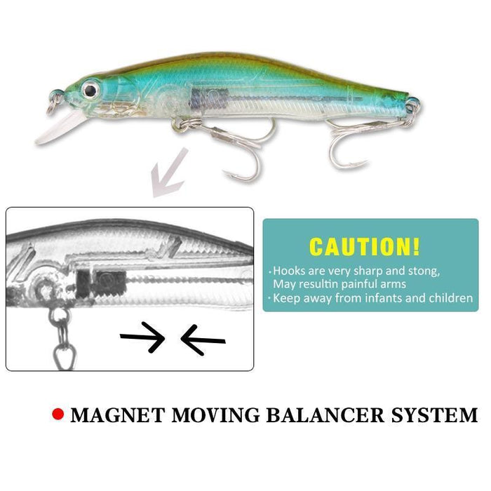 Seapesca High Quality Fishing Lure Magnet System Minnow 80Mm 10G Crank Bait Hard-SEAPESCA Fishing Store-A-Bargain Bait Box