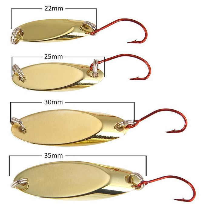 Seapesca Metal Spinner Spoon Fishing Lure Copper Hard Bait 1.5G 2G 3.5G 5G-SEAPESCA Fishing Store-A-Bargain Bait Box