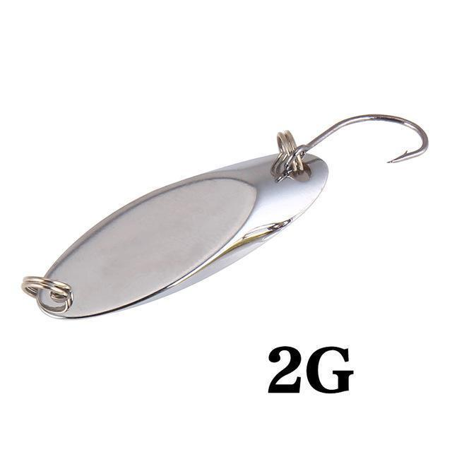 Seapesca Metal Spinner Spoon Fishing Lure Copper Hard Bait 1.5G 2G 3.5G 5G-SEAPESCA Fishing Store-E-Bargain Bait Box