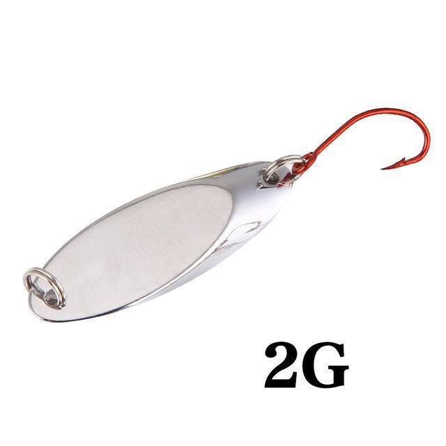 Seapesca Metal Spinner Spoon Fishing Lure Copper Hard Bait 1.5G 2G 3.5G 5G-SEAPESCA Fishing Store-G-Bargain Bait Box