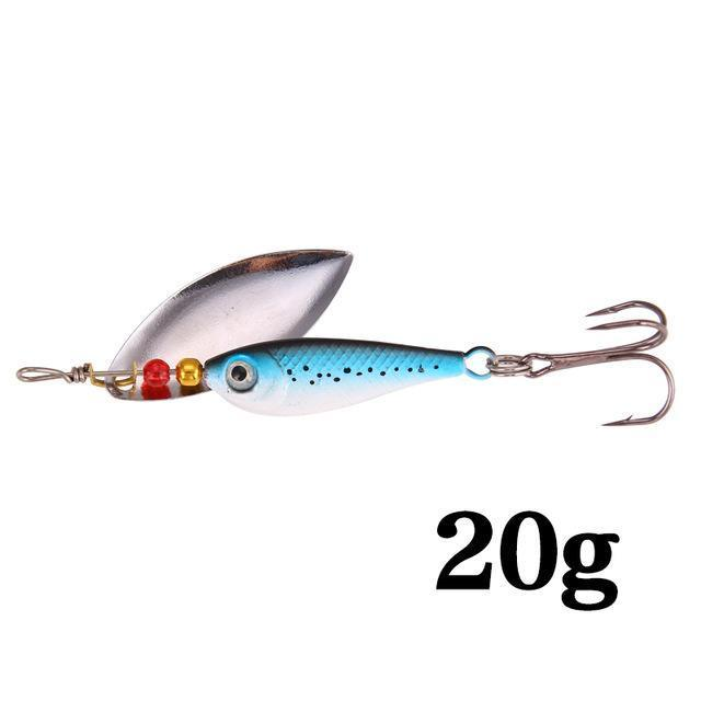 Seapesca Spinner Bait Fishing Lure Bait 11G 15G 20G Bass Baits Fishing Hooks-SEAPESCA Fishing Store-Blue 20g-Bargain Bait Box