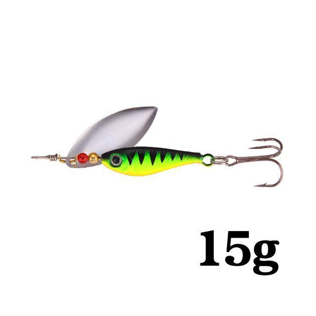 Seapesca Spinner Bait Fishing Lure Bait 11G 15G 20G Bass Baits Fishing Hooks-SEAPESCA Fishing Store-Green 15g-Bargain Bait Box