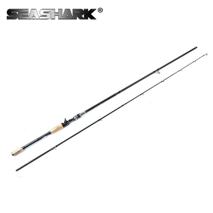Seashark Spinning Rod Casting Fishing Rod 2.1M 2.4M 2.7M 3.0M 4 Sections Power M-Spinning Rods-SEA SHARK OUTDOOR ADVENTURE CLUB-Black-2.1 m-Bargain Bait Box