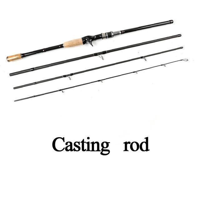 Seashark Spinning Rod Casting Fishing Rod 2.1M 2.4M 2.7M 3.0M 4 Sections Power M-Spinning Rods-SEA SHARK OUTDOOR ADVENTURE CLUB-Orange-2.1 m-Bargain Bait Box