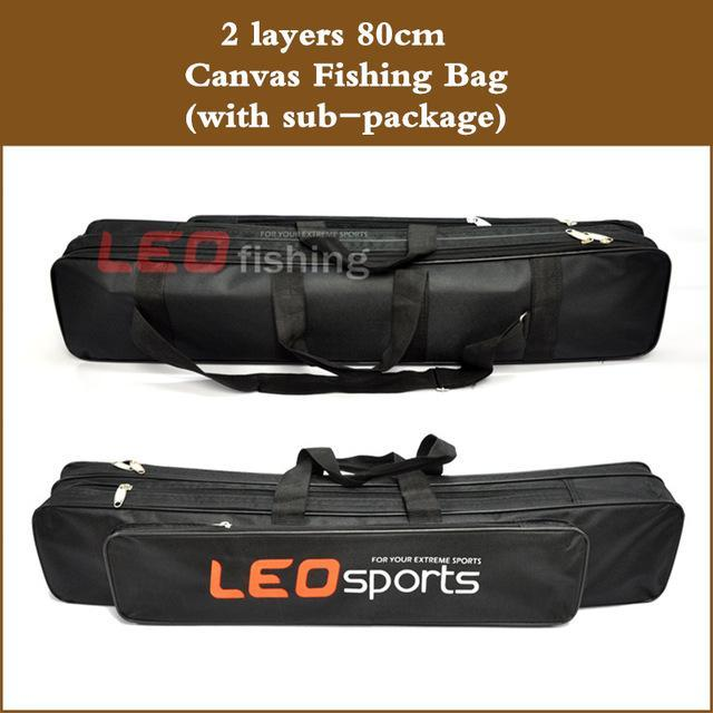 Senior Canvas Fishing Bags Steel Wire 2/3 Layers 70/80Cm Length Fishing Rod-Fishing Rod Bags & Cases-Bargain Bait Box-80x14x15cm-Bargain Bait Box