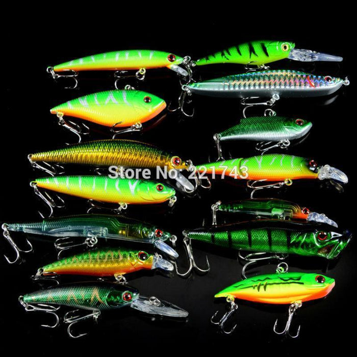 Set Mixed 14Pcs/Lot Good Quality Fishing Lure 14 Models Crankbait Bait-Lingyue Fishing Tackle Co.,Ltd-Bargain Bait Box