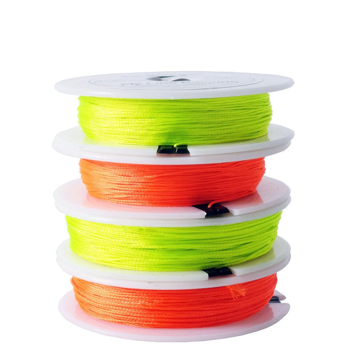 Sf 30Lb 20Lb 50M/54Yds Backing Line Dacron Pe Braided Fly Fishing Trout Line-SF Store-Flour Yellow-30LB-Bargain Bait Box