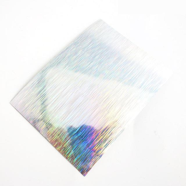 Shared With Fish 20Pcs Adhesive Holographic Tape Reflective Tapes Decoration-Holographic Stickers-Bargain Bait Box-SJ84 SILVER-Bargain Bait Box