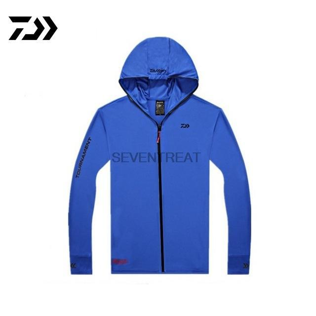 Shirts Fishing Breathable Sunscreen Shirt Men Quick Drying Solid Color Long-Hoodies-Bargain Bait Box-Blue-XXL-Bargain Bait Box