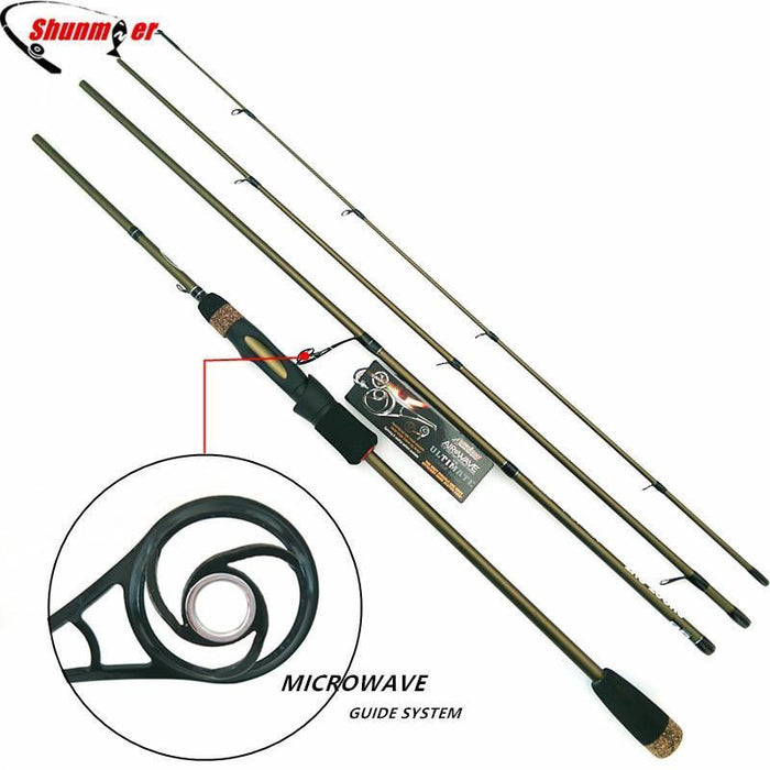 a5c555d1065 Shunmier 2.1M 2.4M Spinning Fishing Rods 4 Section Ml M 99% Carbon Fishing