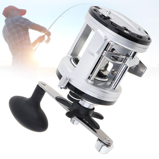 Silver Drum Fishing Reel 12+1 Ball Bearing 5.6:1 Right Hand Trolling Wheel-Baitcasting Reels-FishingXYZ Store-13-Other-Bargain Bait Box