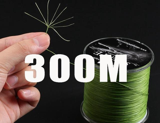 Simago Fishing 300M 8 Strand Weaves Fishing Lines Pe Braided Multifilament-KingWow Store-Green-0.6-Bargain Bait Box