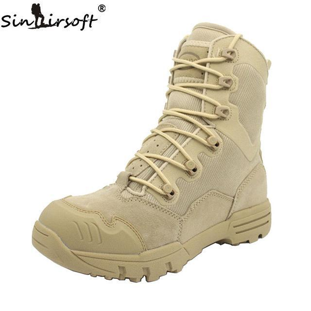 Sinairsoft Genuine Leather U.S. Military Assault Tactical Boots Breathable-Boots-Bargain Bait Box-Blue-8-Bargain Bait Box