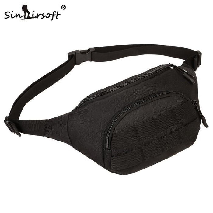 Sinairsoft Tactical Molle Bag Waterproof Waist Bag Fanny Pack Climbing Hiking-SINAIRSOFT Official Store-BK-Bargain Bait Box