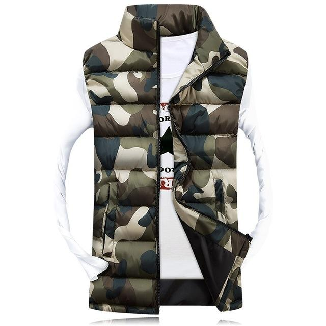 Skin Men'S Camo Vest Men Sleeveless Casual Male Female Camo Waist Slim Fit Sa031-Vests-Bargain Bait Box-Camo C-M-Bargain Bait Box