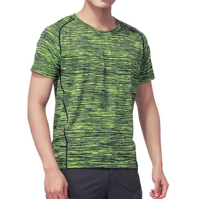 Skin Men'S Women'S Quick Dry Breathable T-Shirt Trekking Climbing Fishing-Shirts-Bargain Bait Box-Men Green-XL-Bargain Bait Box