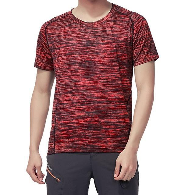 Skin Men'S Women'S Quick Dry Breathable T-Shirt Trekking Climbing Fishing-Shirts-Bargain Bait Box-Men Red-XL-Bargain Bait Box