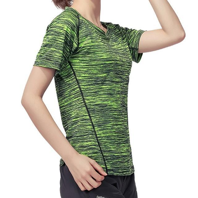 Skin Men'S Women'S Quick Dry Breathable T-Shirt Trekking Climbing Fishing-Shirts-Bargain Bait Box-Women Green-XL-Bargain Bait Box