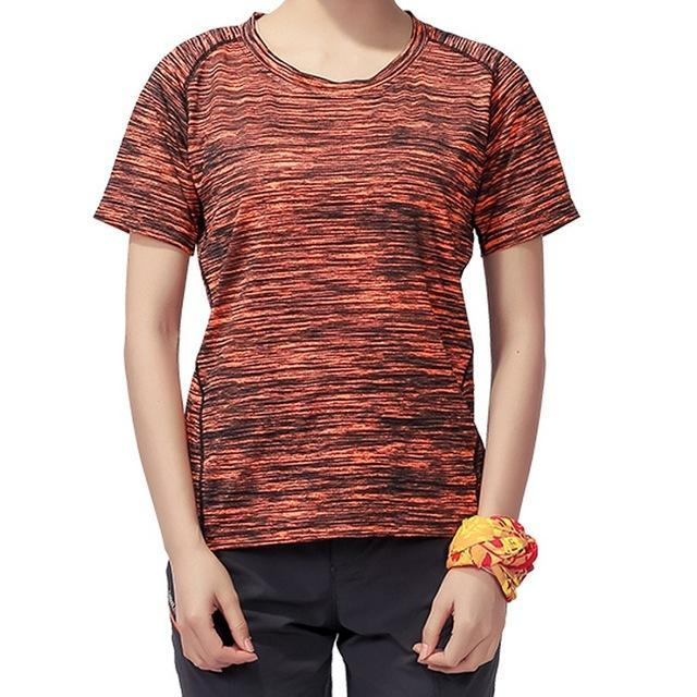Skin Men'S Women'S Quick Dry Breathable T-Shirt Trekking Climbing Fishing-Shirts-Bargain Bait Box-Women Orange-XL-Bargain Bait Box