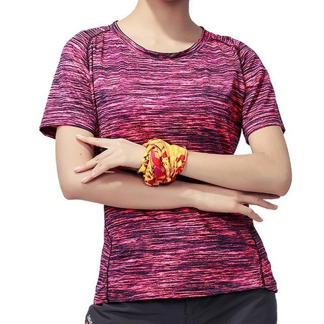 Skin Men'S Women'S Quick Dry Breathable T-Shirt Trekking Climbing Fishing-Shirts-Bargain Bait Box-Women Rose-XL-Bargain Bait Box