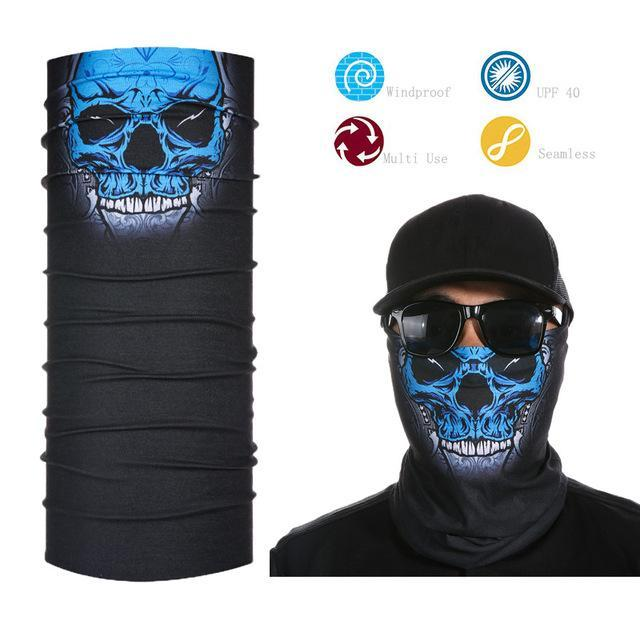 Skull Face Shield Bandana Upf 40 Sunscreen Balaclava Magic Scarf Bicycle Mask-Face Shields-Bargain Bait Box-Beige-Bargain Bait Box
