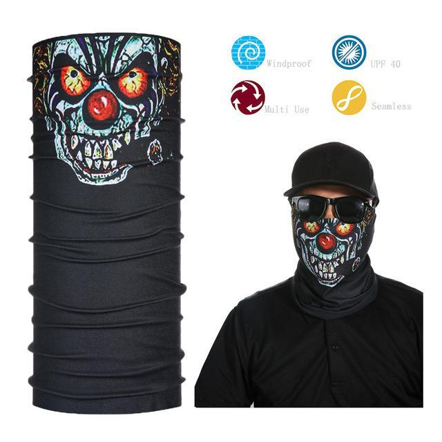 Skull Face Shield Bandana Upf 40 Sunscreen Balaclava Magic Scarf Bicycle Mask-Face Shields-Bargain Bait Box-Camel-Bargain Bait Box