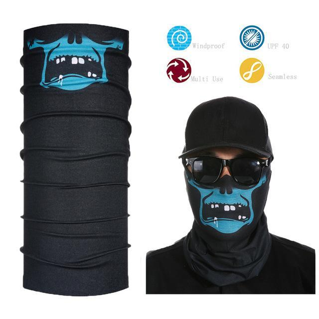 Skull Face Shield Bandana Upf 40 Sunscreen Balaclava Magic Scarf Bicycle Mask-Face Shields-Bargain Bait Box-Dark Khaki-Bargain Bait Box