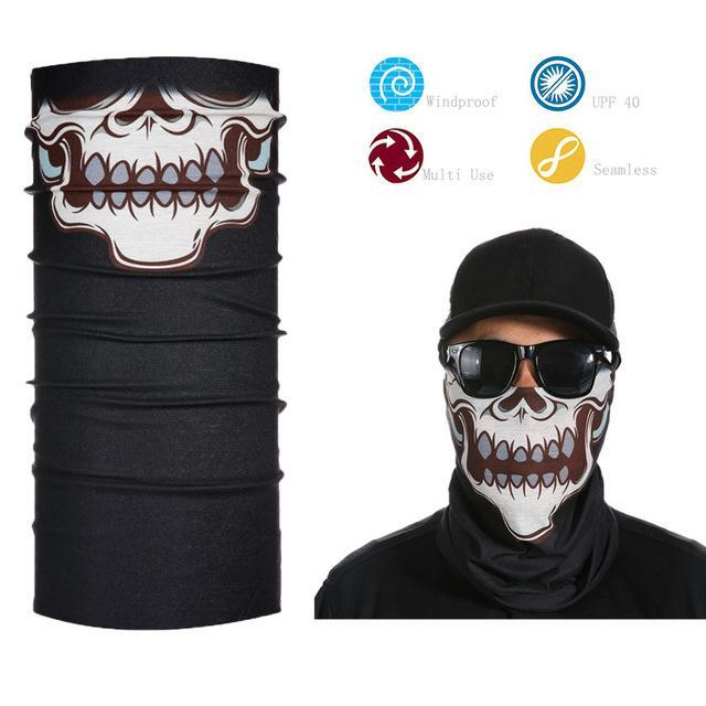 Skull Face Shield Bandana Upf 40 Sunscreen Balaclava Magic Scarf Bicycle Mask-Face Shields-Bargain Bait Box-Deep Blue-Bargain Bait Box