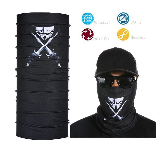 Skull Face Shield Bandana Upf 40 Sunscreen Balaclava Magic Scarf Bicycle Mask-Face Shields-Bargain Bait Box-Ivory-Bargain Bait Box
