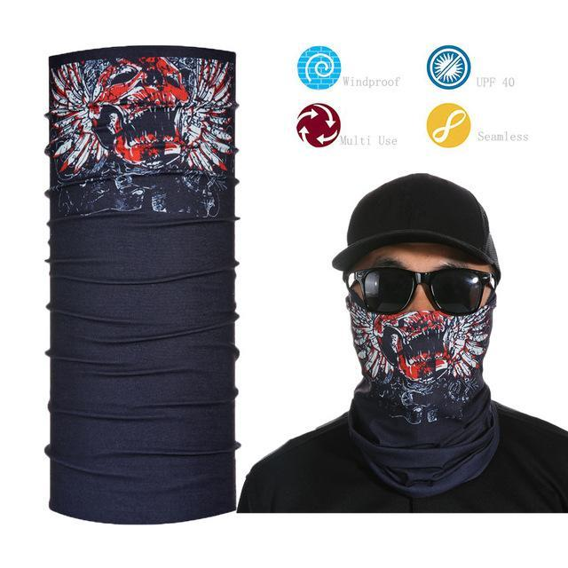 Skull Face Shield Bandana Upf 40 Sunscreen Balaclava Magic Scarf Bicycle Mask-Face Shields-Bargain Bait Box-Lavender-Bargain Bait Box