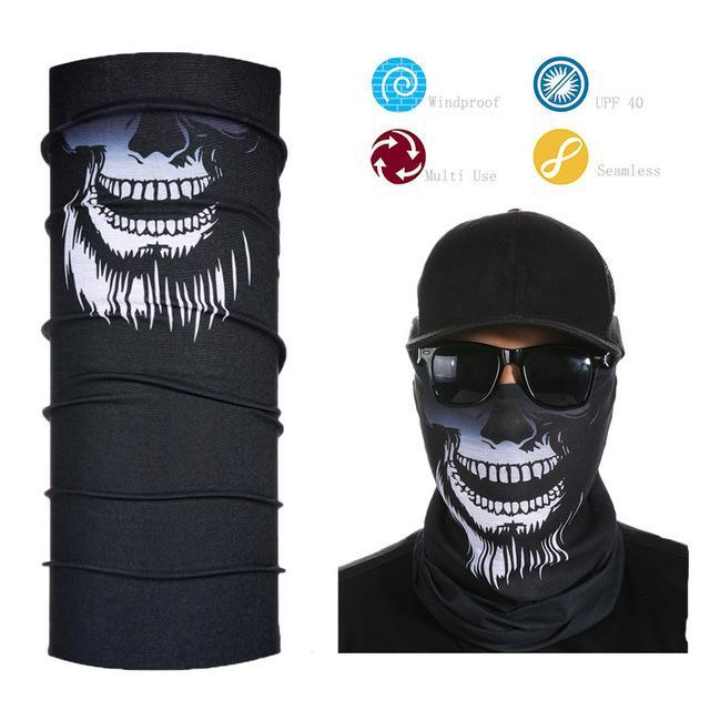 Skull Face Shield Bandana Upf 40 Sunscreen Balaclava Magic Scarf Bicycle Mask-Face Shields-Bargain Bait Box-Light Green-Bargain Bait Box