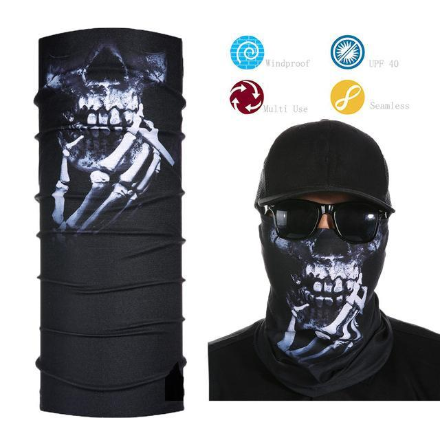 Skull Face Shield Bandana Upf 40 Sunscreen Balaclava Magic Scarf Bicycle Mask-Face Shields-Bargain Bait Box-Light Yellow-Bargain Bait Box