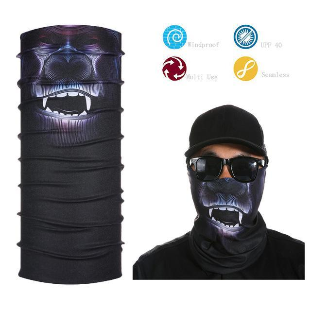 Skull Face Shield Bandana Upf 40 Sunscreen Balaclava Magic Scarf Bicycle Mask-Face Shields-Bargain Bait Box-Multi-Bargain Bait Box