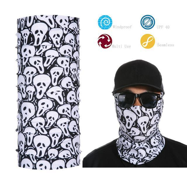 Skull Face Shield Bandana Upf 40 Sunscreen Balaclava Magic Scarf Bicycle Mask-Face Shields-Bargain Bait Box-Navy Blue-Bargain Bait Box