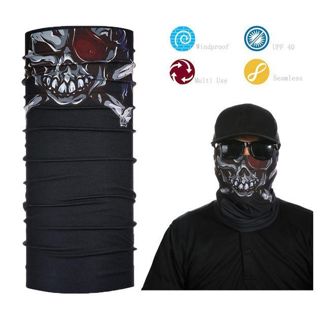 Skull Face Shield Bandana Upf 40 Sunscreen Balaclava Magic Scarf Bicycle Mask-Face Shields-Bargain Bait Box-Pink-Bargain Bait Box