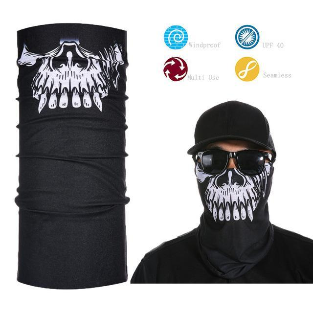 Skull Face Shield Bandana Upf 40 Sunscreen Balaclava Magic Scarf Bicycle Mask-Face Shields-Bargain Bait Box-Plum-Bargain Bait Box