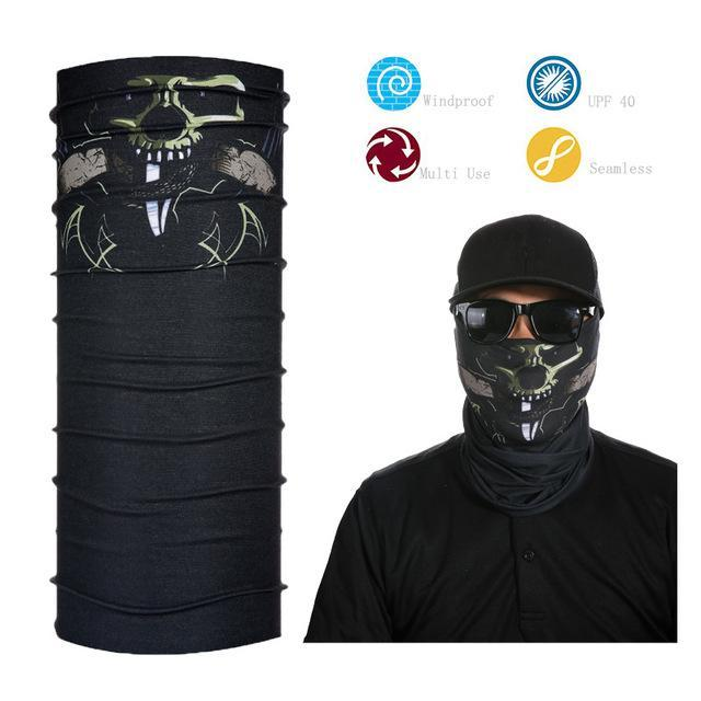 Skull Face Shield Bandana Upf 40 Sunscreen Balaclava Magic Scarf Bicycle Mask-Face Shields-Bargain Bait Box-Sky Blue-Bargain Bait Box