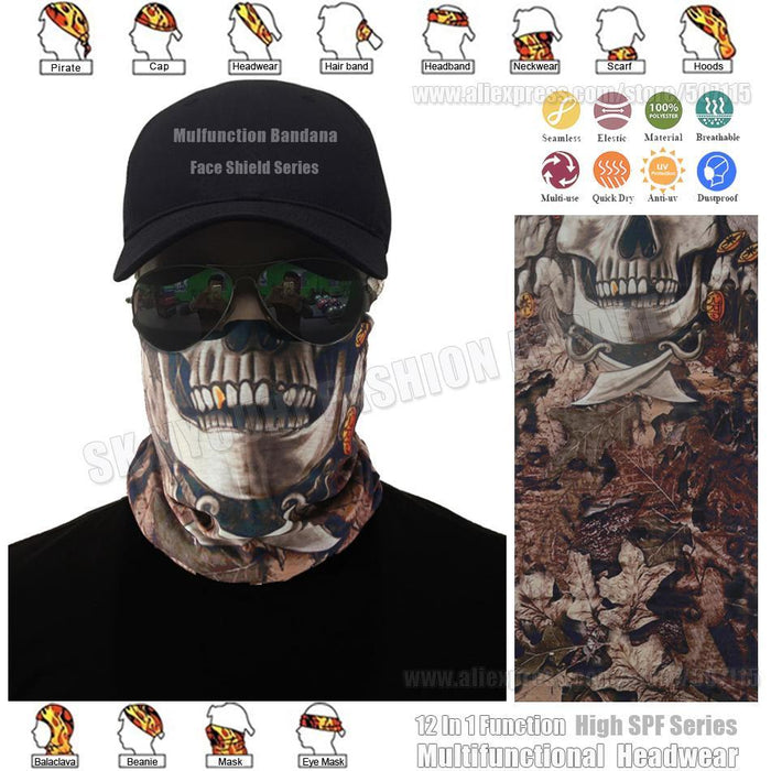 Skull Jungle Camo Seamless Face Shield Mask Sunscreen Balaclava Riding Caps-Face Shields-Bargain Bait Box-Bargain Bait Box