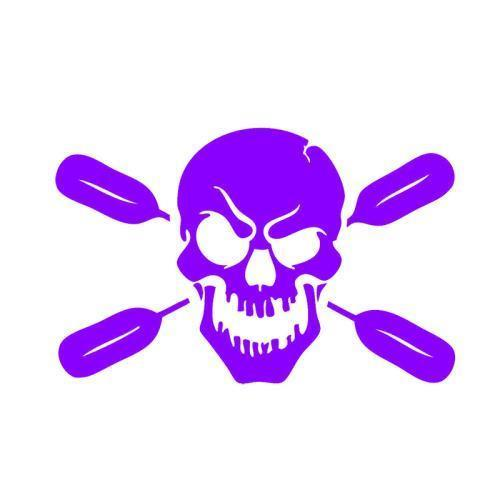 Skull With Oars Paddle Vinyl Decal Car Stickers Kayak Fishing Car Body Truck-Fishing Decals-Bargain Bait Box-Purple-Bargain Bait Box
