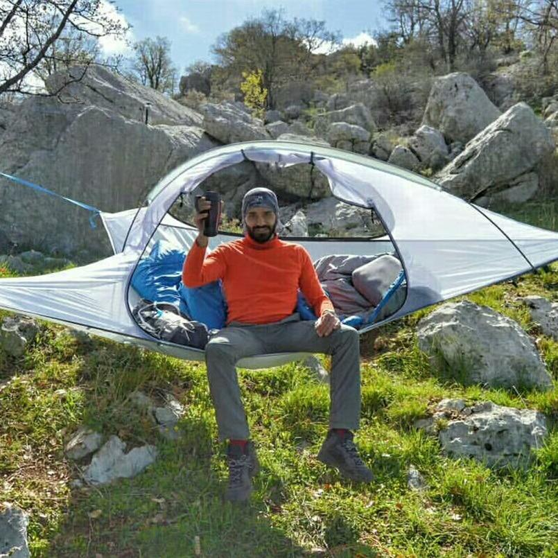 Skysurf Camping Hanging Tree Tent 2 Person Ultralight Triangle Suspension-Tents-Travel Outdoors Store-Blue-Bargain Bait Box
