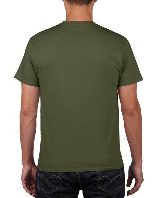 Sleeves Cotton T Shirt Gildan Casual Short O-Neck Mens I'D Rather Be Fing-Shirts-Bargain Bait Box-Army Green-Asia Size S-Bargain Bait Box