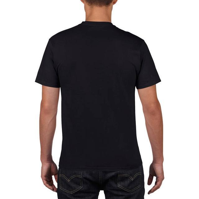 Sleeves Cotton T Shirt Gildan Casual Short O-Neck Mens I'D Rather Be Fing-Shirts-Bargain Bait Box-Black-Asia Size S-Bargain Bait Box