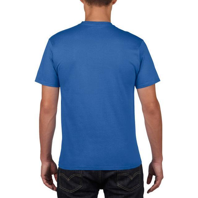Sleeves Cotton T Shirt Gildan Casual Short O-Neck Mens I'D Rather Be Fing-Shirts-Bargain Bait Box-Blue-Asia Size S-Bargain Bait Box
