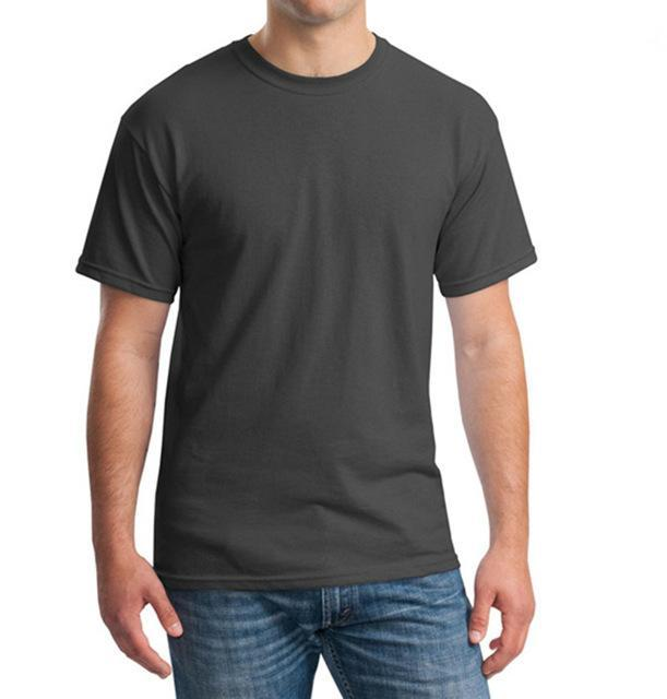 Sleeves Cotton T Shirt Gildan Casual Short O-Neck Mens I'D Rather Be Fing-Shirts-Bargain Bait Box-Charcoal-Asia Size S-Bargain Bait Box