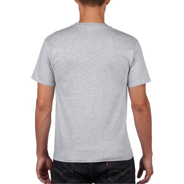 Sleeves Cotton T Shirt Gildan Casual Short O-Neck Mens I'D Rather Be Fing-Shirts-Bargain Bait Box-Gray-Asia Size S-Bargain Bait Box