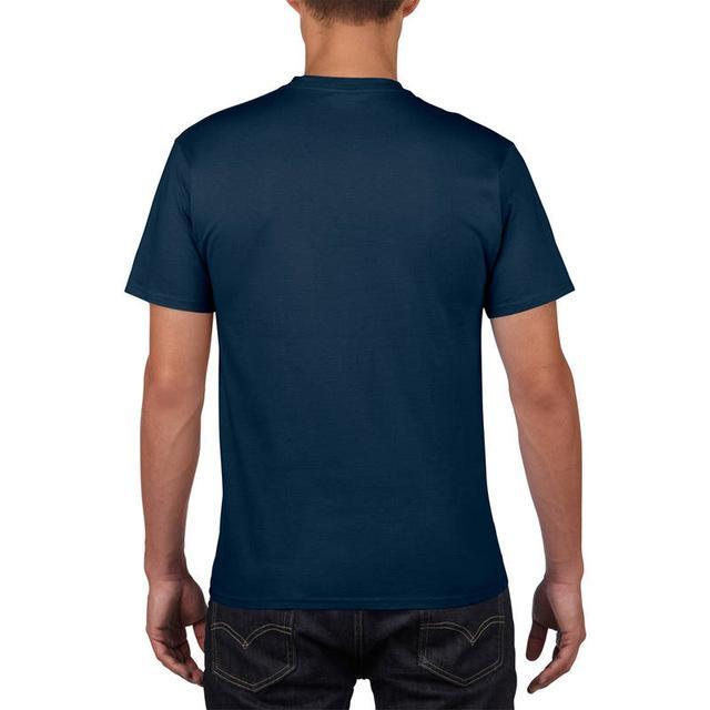 Sleeves Cotton T Shirt Gildan Casual Short O-Neck Mens I'D Rather Be Fing-Shirts-Bargain Bait Box-Navy-Asia Size S-Bargain Bait Box